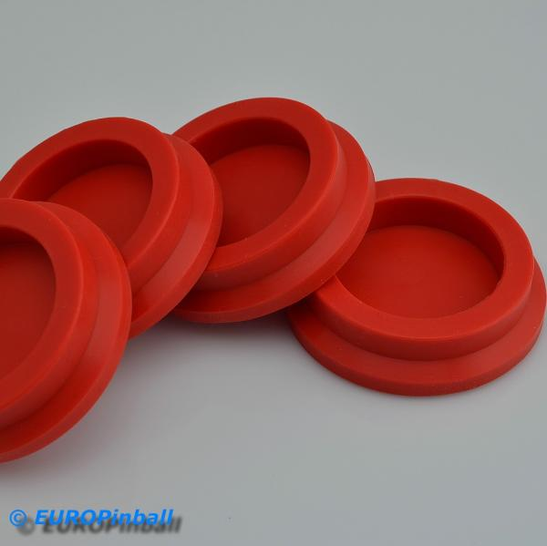 Leg leveler silicone caster 4 pieces red