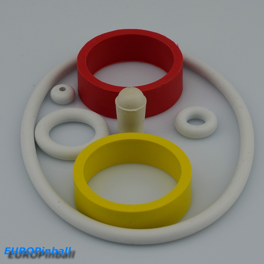 best supplier fast delivery picked up Euro-Pinball - Rubber ring assortment Bally 4 Queens
